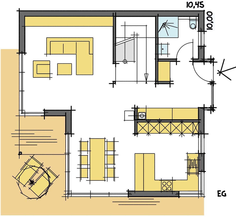 Haus Radtke/Groß - Eine nahaufnahme von text auf einem schwarzen hintergrund - Die Architektur
