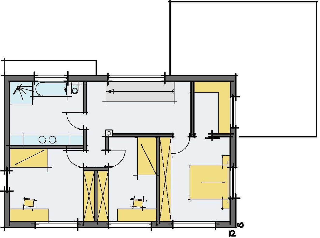 Haus Haug - Ein Screenshot eines Videospiels - Gebäudeplan