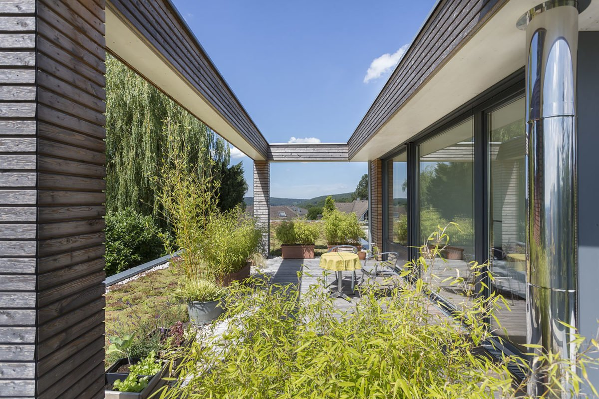 Haus Peters - Ein Blick auf ein Haus - Terrasse