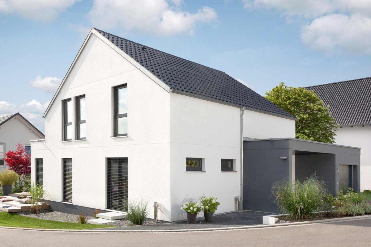 Kundenhaus Rimsa/Heck - Ein kleines haus im hintergrund - Haus