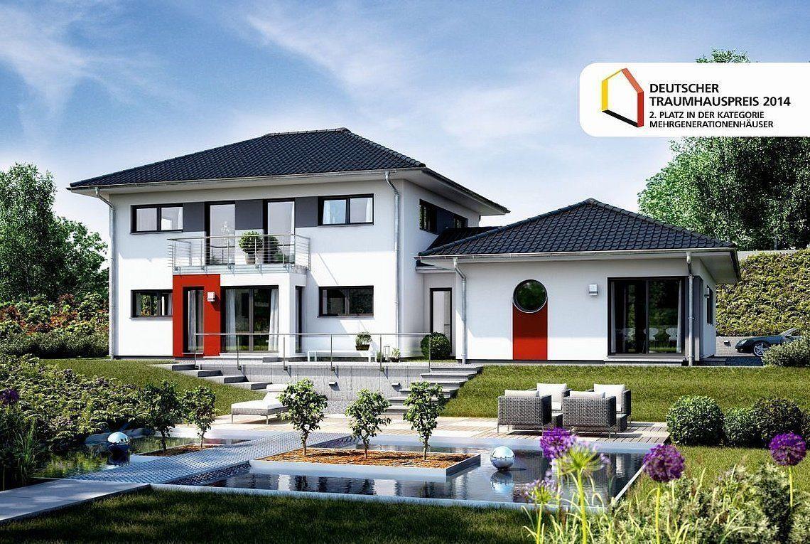Stadtvilla Atlanta - Ein Garten vor einem Haus - Rensch-Haus GmbH