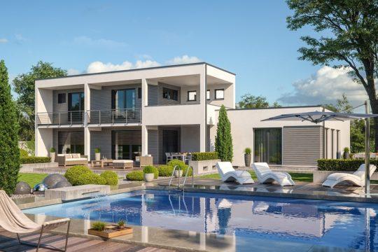 Twinline R – Genua - Ein haus mit pool vor einem gebäude - Haus