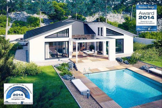 Bungalow Liberty - Ein schild vor einem haus - Rensch-Haus GmbH