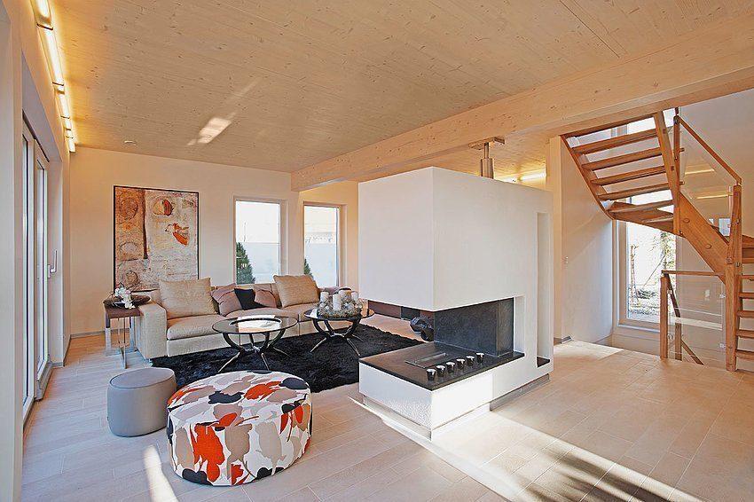 Setros 3.1740 - Ein Wohnzimmer mit Möbeln und einem großen Fenster - Interior Design Services