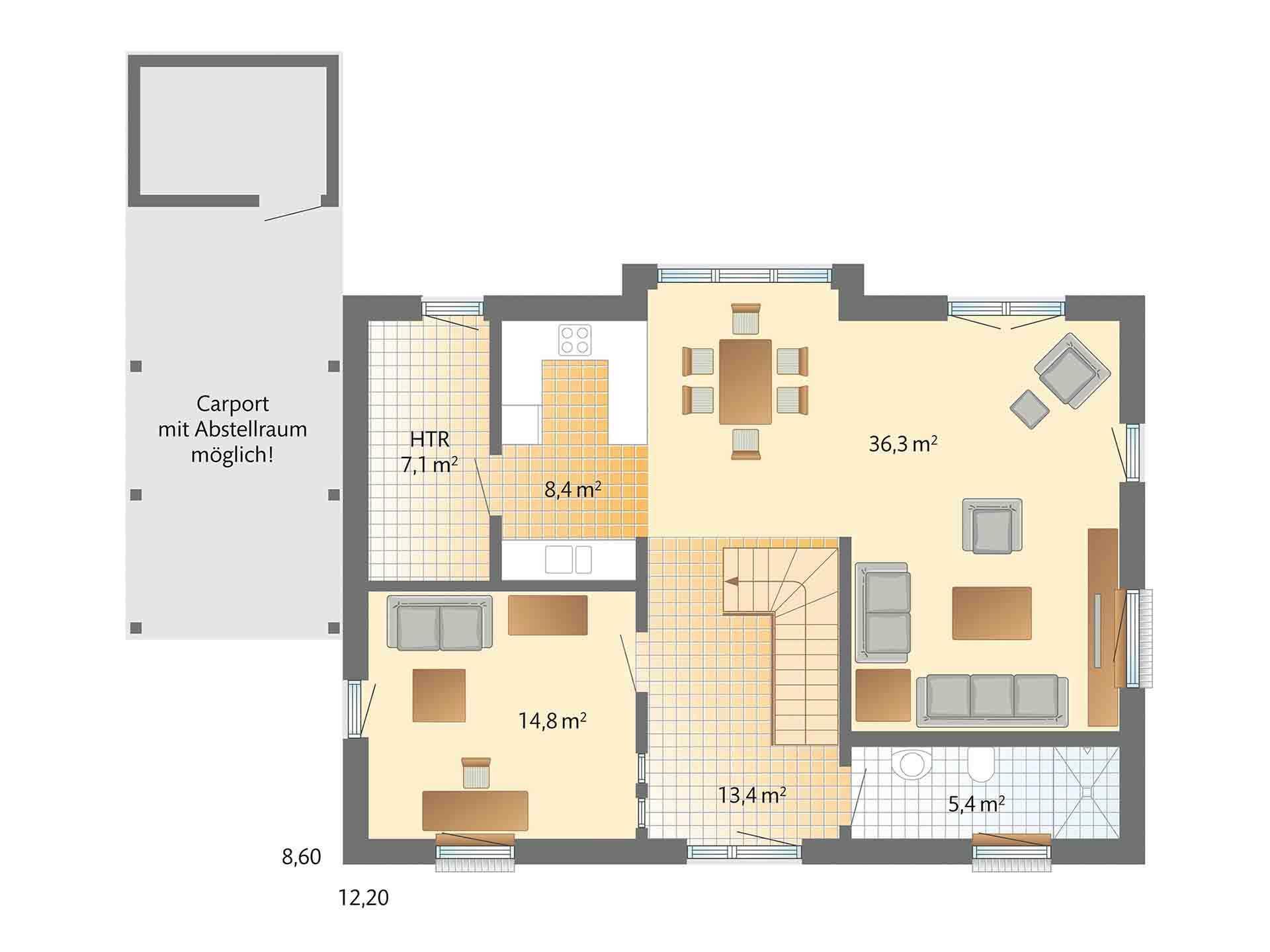 Musterhaus Kronhagen - Ein Screenshot eines Videospiels - Danhaus - Das 1Liter-Haus! bei Ulm