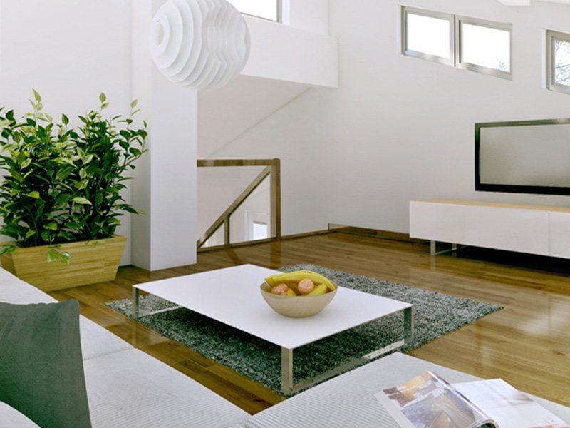 Brave 176 - Ein Wohnzimmer mit Möbeln und einem großen Fenster - Interior Design Services