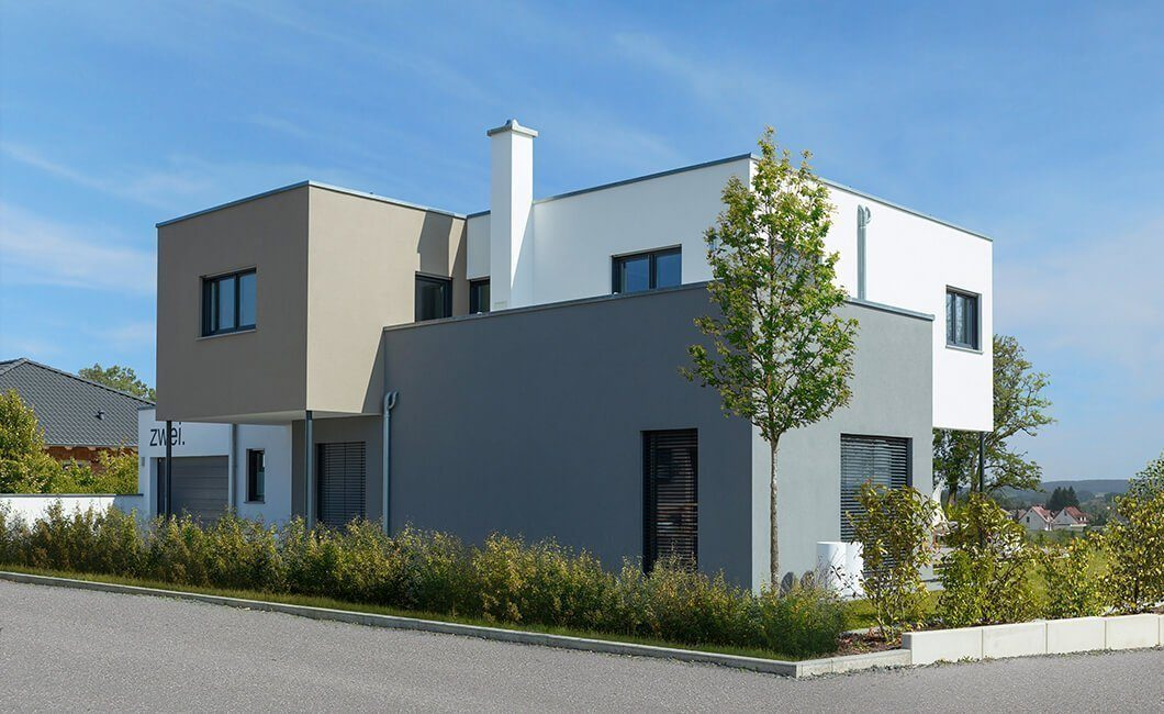 Edition Select 236 - Ein leerer Parkplatz vor einem Haus - Haus
