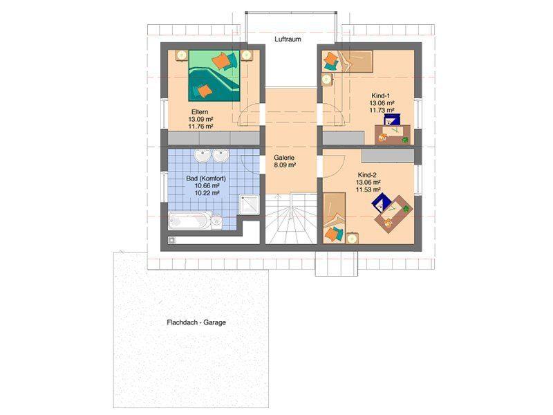 Ein Haus zum Wohlfühlen - Ein Screenshot eines Handys - Gebäudeplan