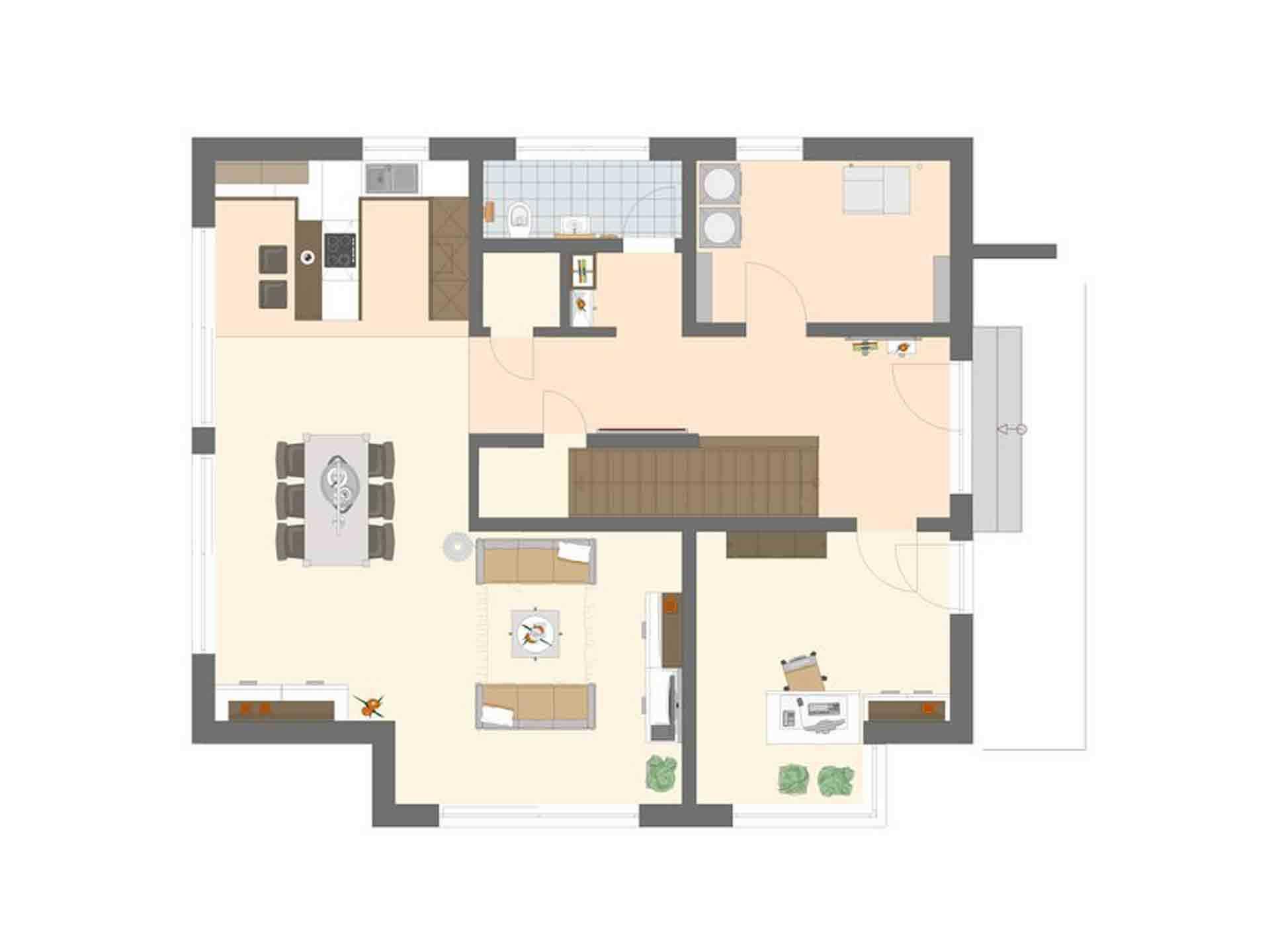 Neo Musterhaus Günzburg - Eine Nahaufnahme von einem Spielzeug - Gebäudeplan