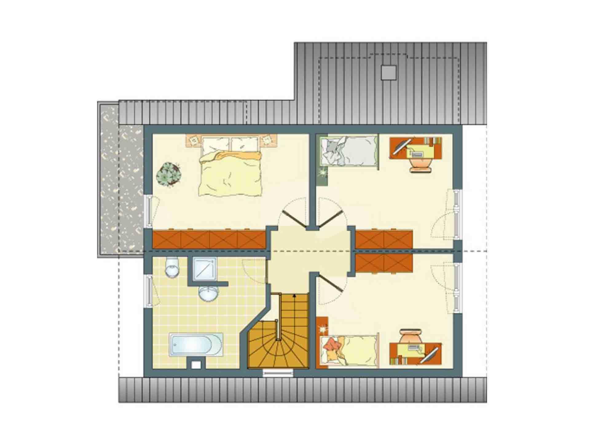 FLAIRplus – Musterhaus Marburg - Ein Screenshot eines Computers - Gebäudeplan