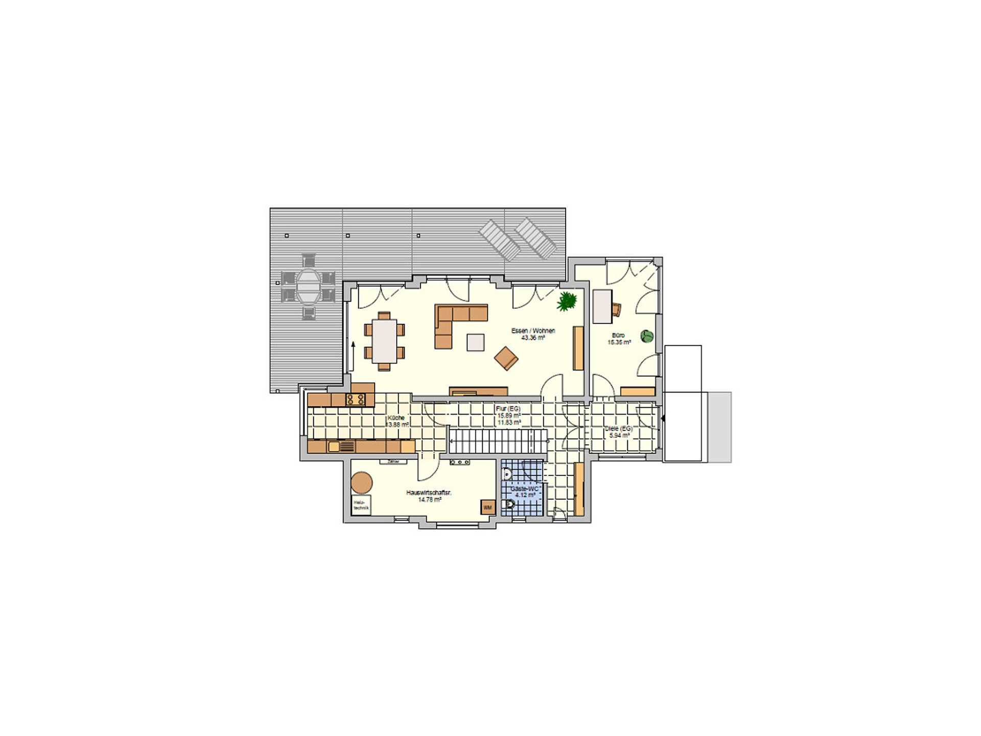 Musterhaus Wuppertal - Eine Nahaufnahme eines Geräts - Gebäudeplan