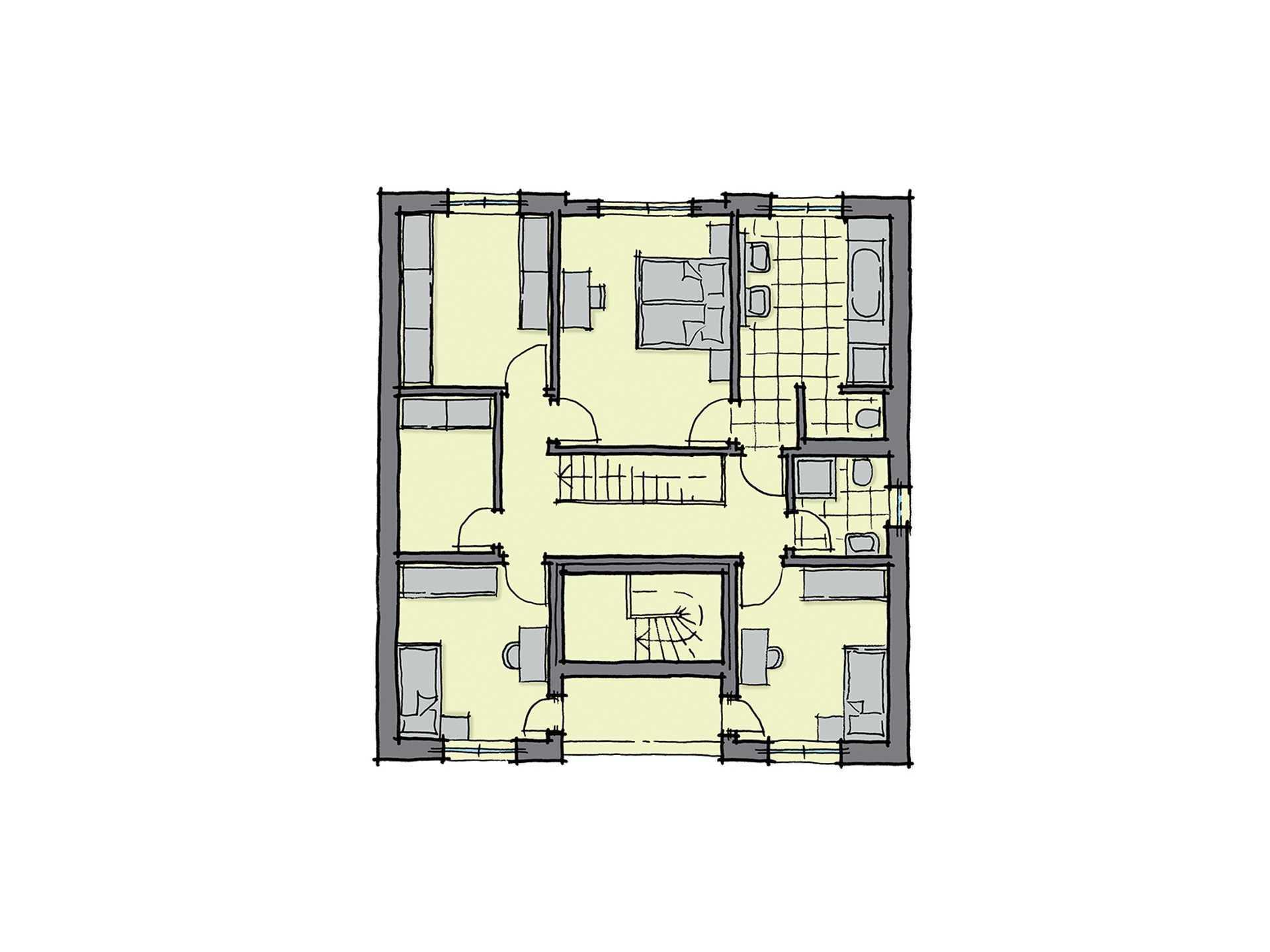Haus Barcelona - Eine Nahaufnahme einer Uhr - Gebäudeplan