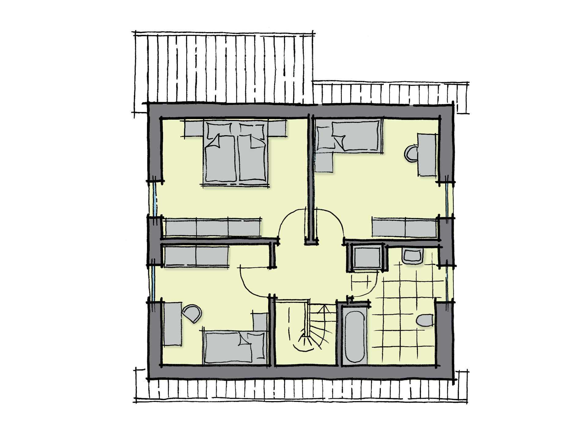 Kastanienallee Variante 1 - Ein Screenshot eines Videospiels - Gebäudeplan