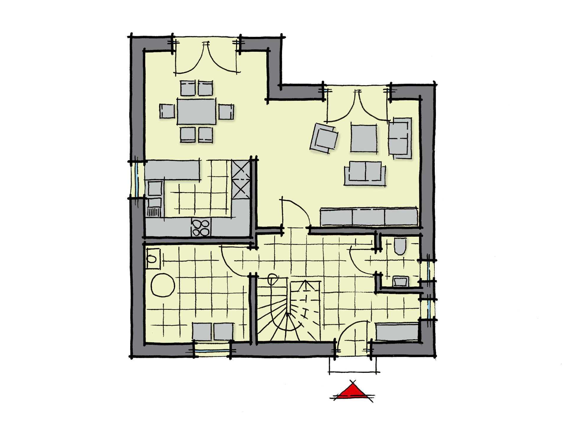 Kastanienallee Variante 1 - Eine Nahaufnahme von einem Logo - Gebäudeplan