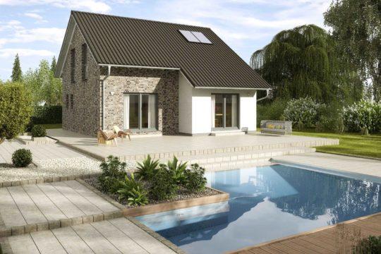 Kastanienallee Variante 1 - Ein Haus mit Bäumen im Hintergrund - Haus