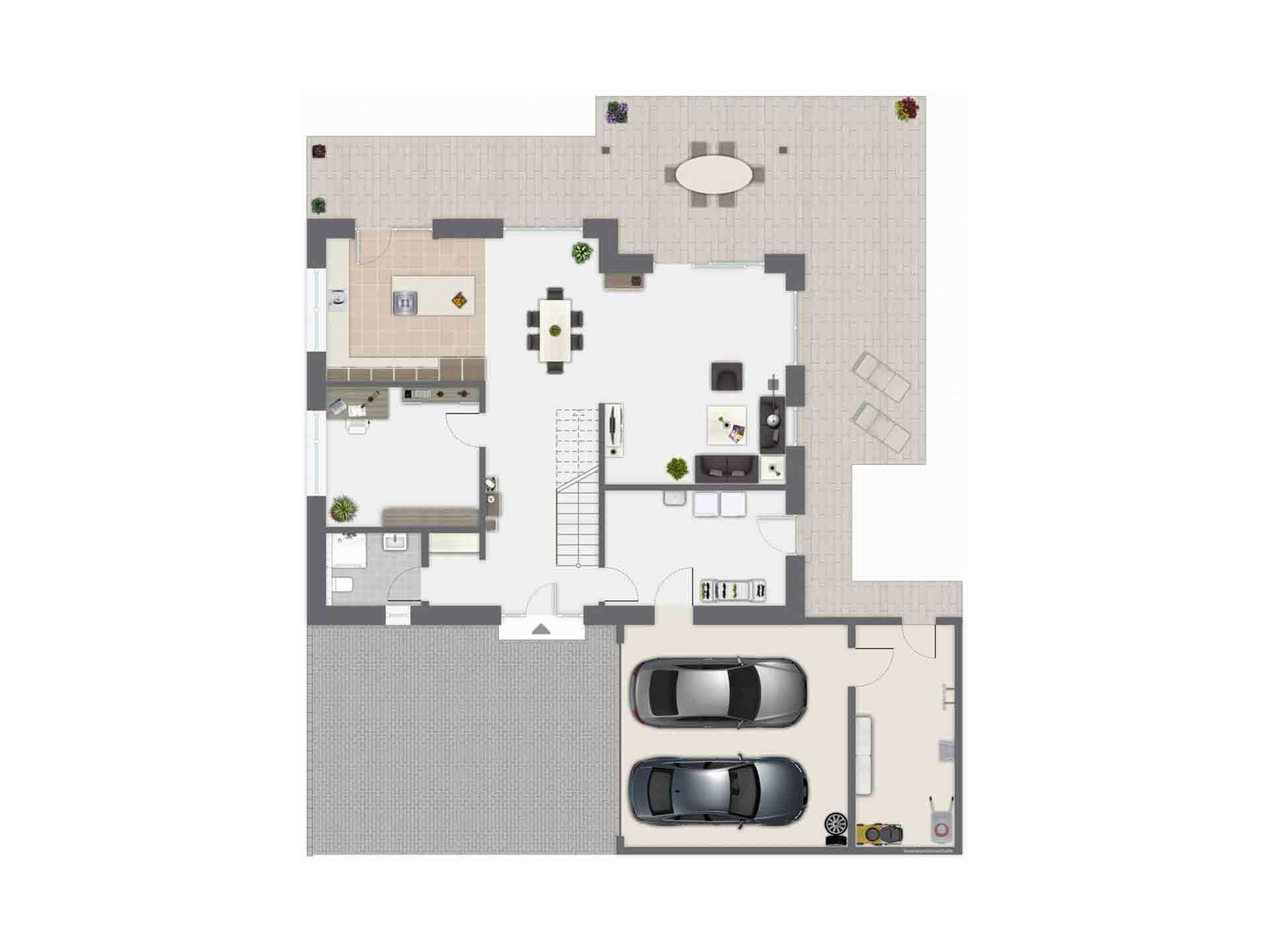 Haus Baggio - Eine Leiterplatte - Gebäudeplan