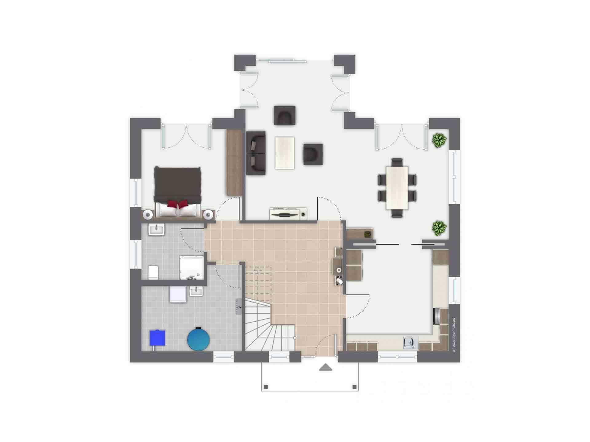 Haus Löwental - Eine Nahaufnahme von einem Spielzeug - Haus