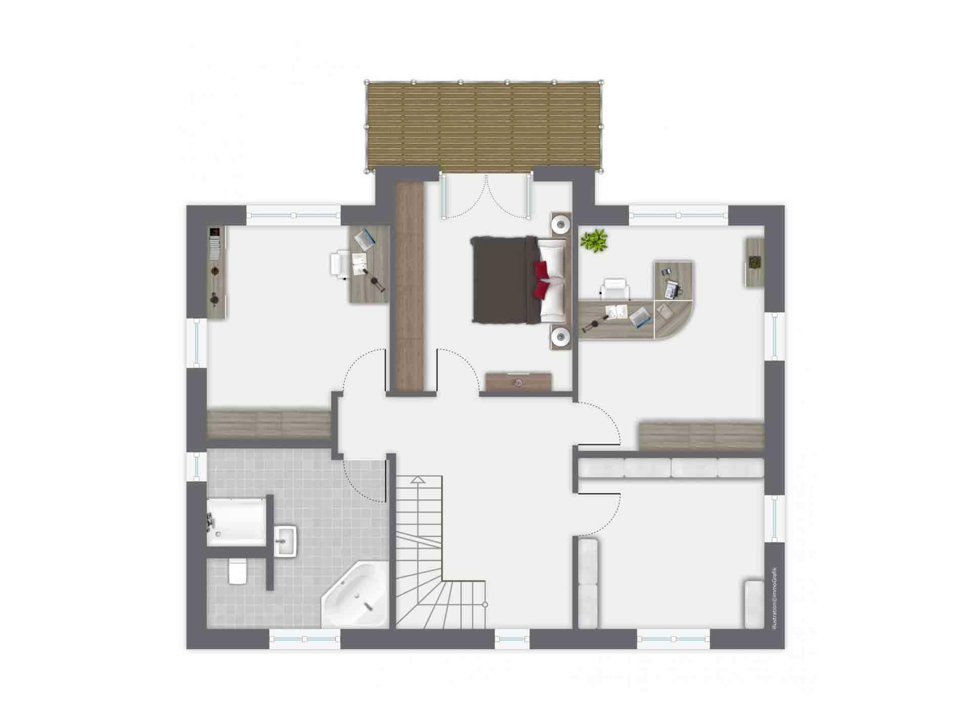 Haus Löwental - Eine Nahaufnahme eines Geräts - Gebäudeplan