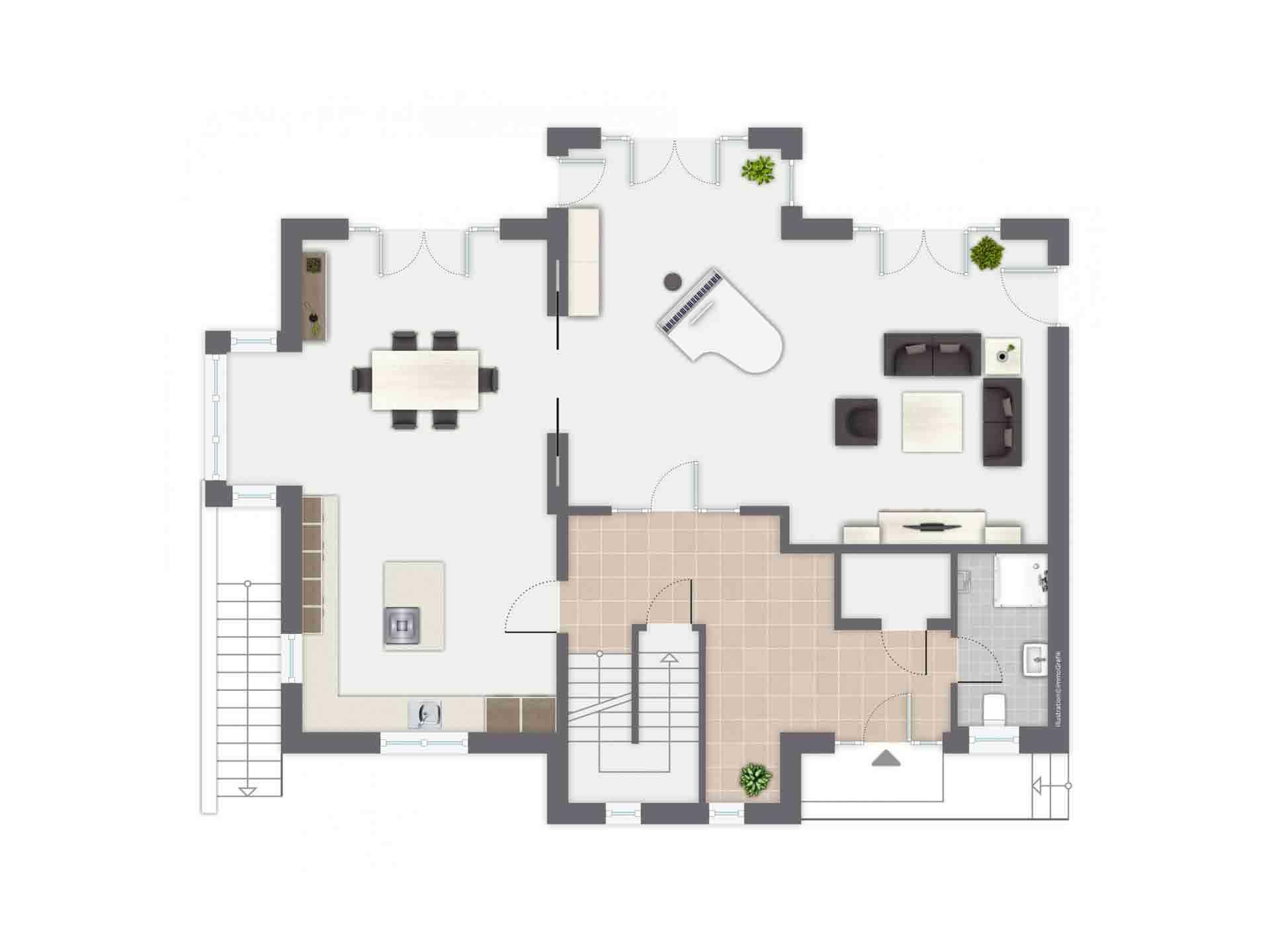 Einfamilienhaus Siebenbrunn - Eine Nahaufnahme eines Geräts - Gussek Haus