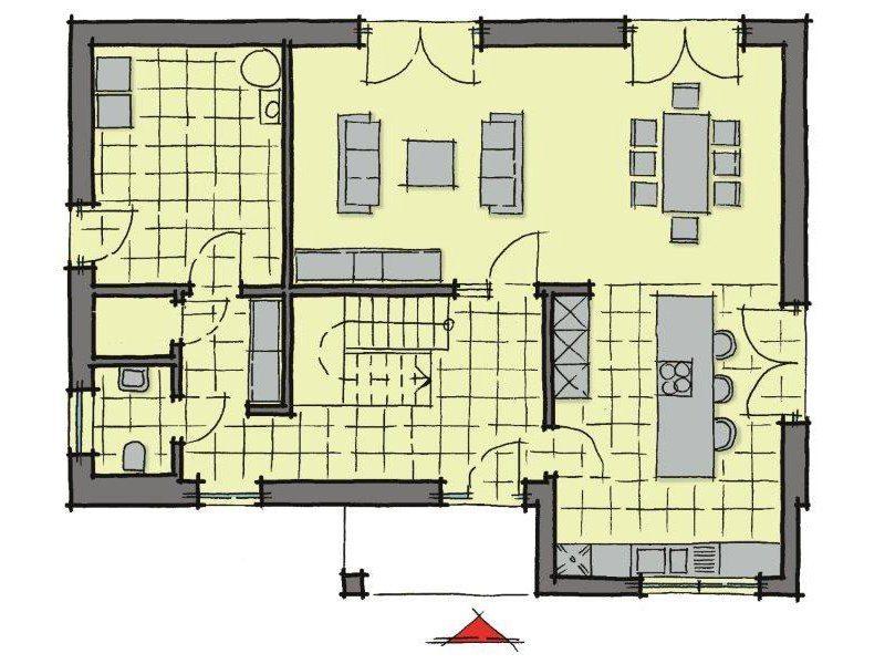 Stadthaus Santiago - Eine Nahaufnahme einer Uhr - Gebäudeplan