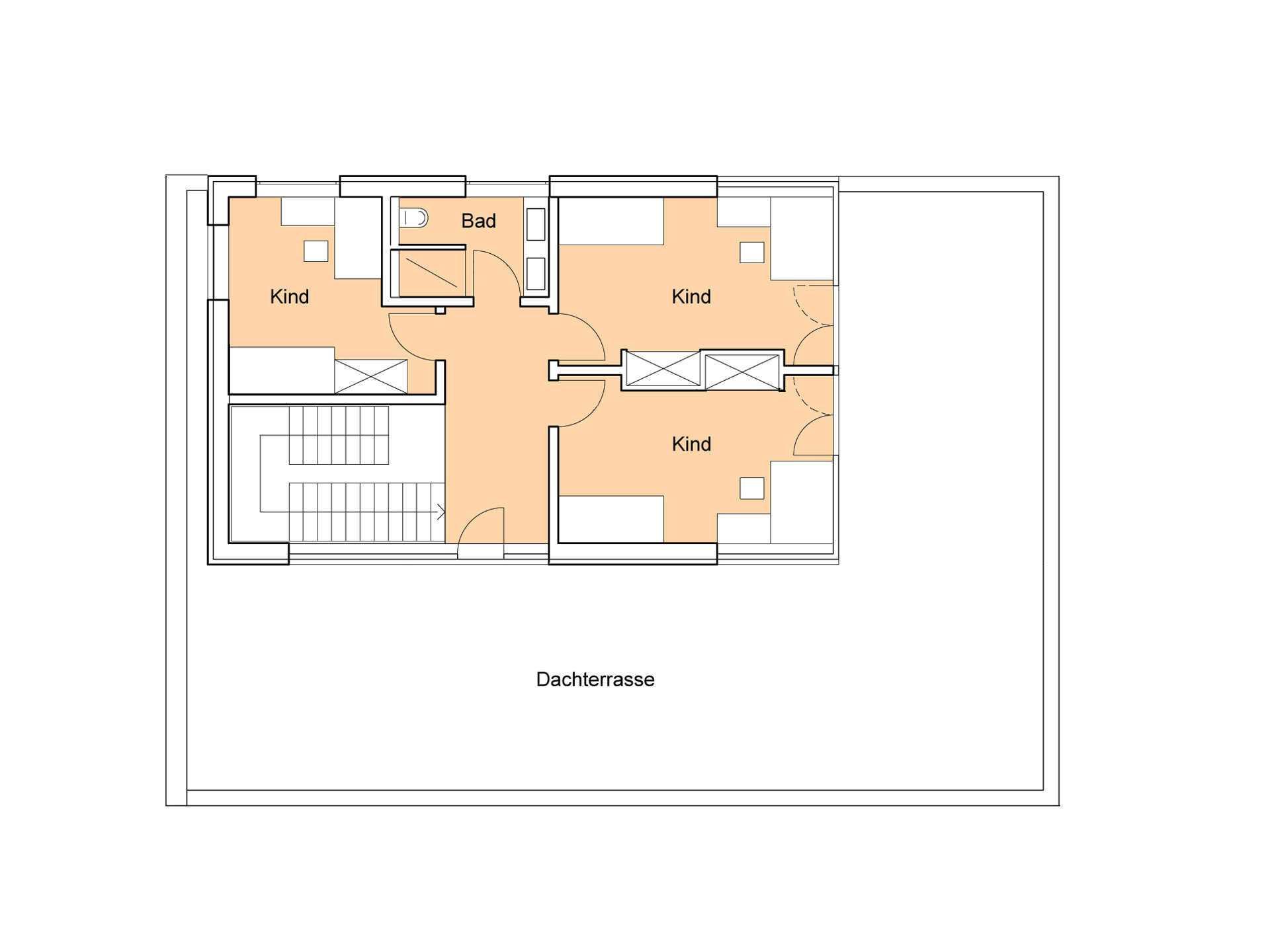 Haus Weitblick - Eine Nahaufnahme von einem Logo - Gebäudeplan