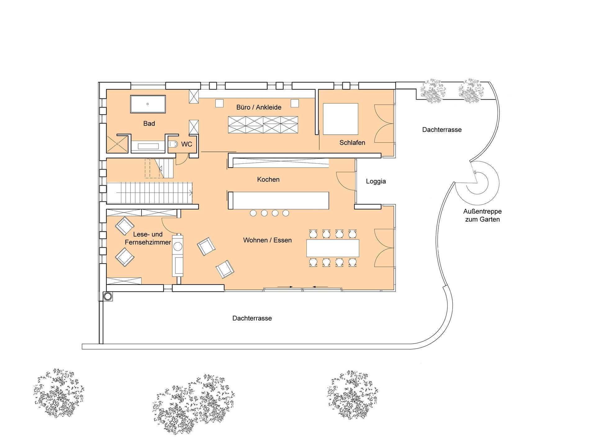 Haus Weitblick - Eine Nahaufnahme eines Geräts - Gebäudeplan