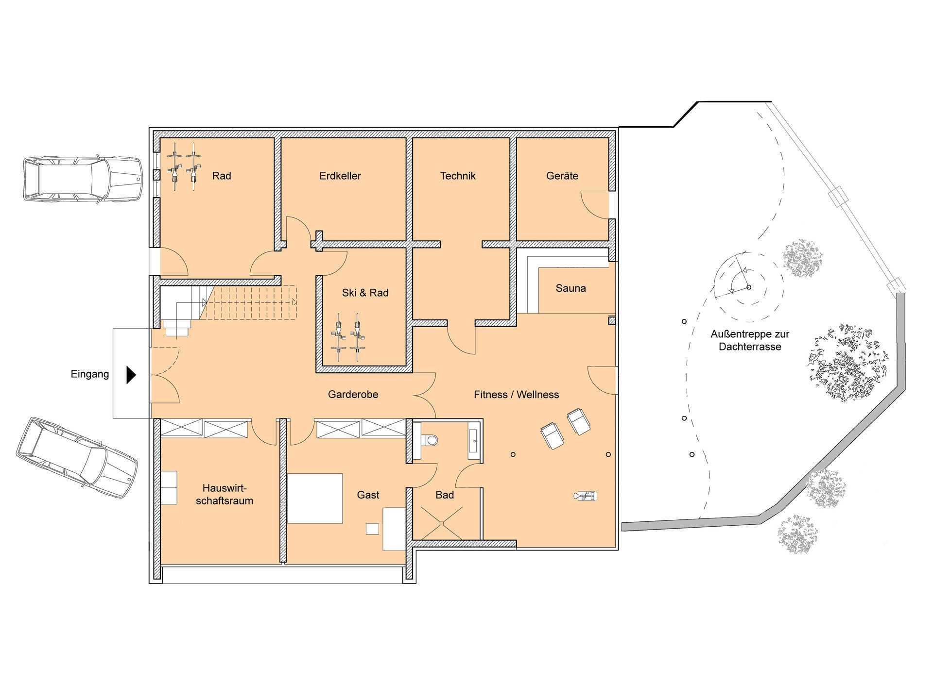 Haus Weitblick - Eine nahaufnahme von text auf einem weißen hintergrund - Gebäudeplan