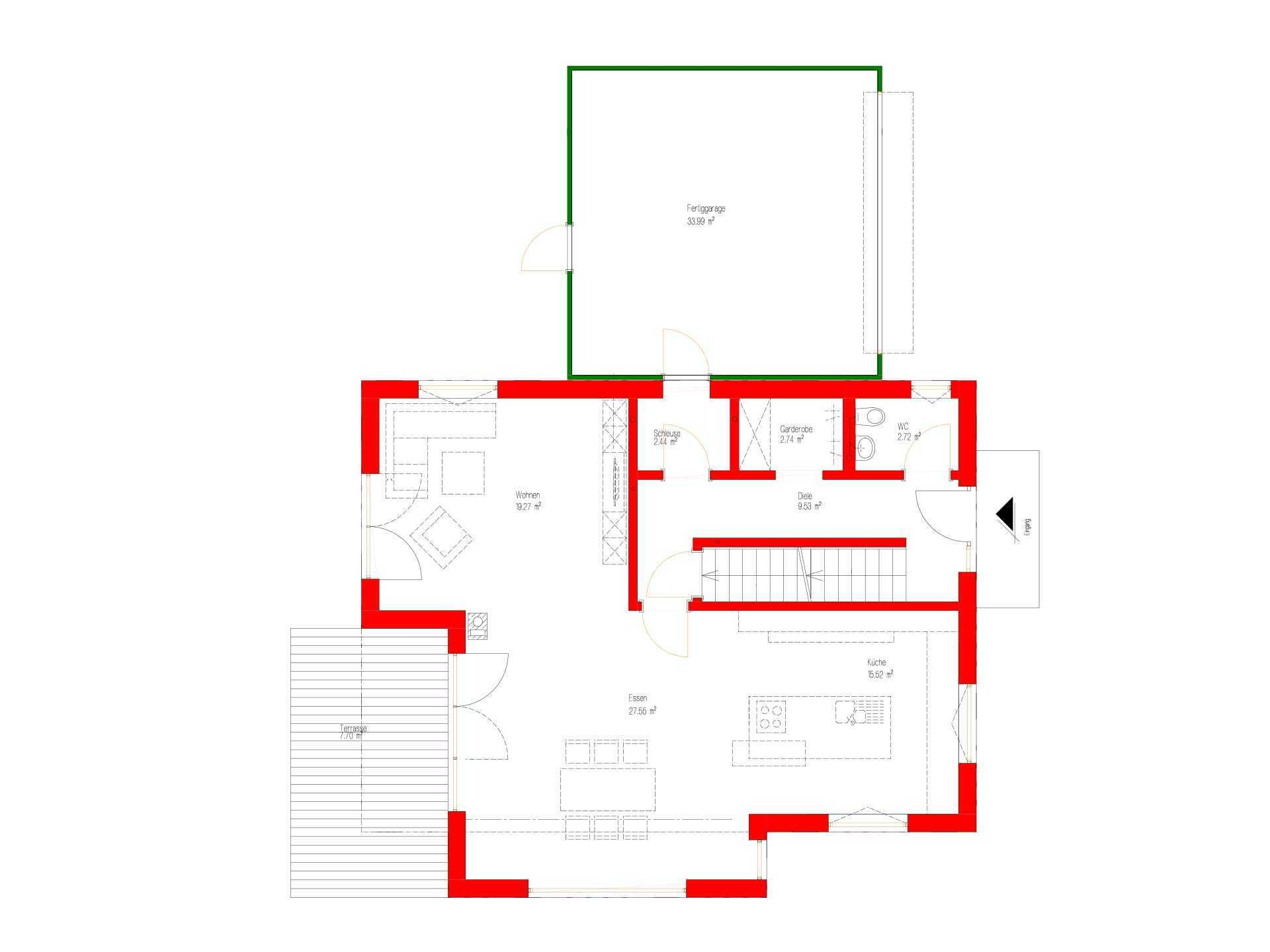 Kundenhaus Malmsheim - Gebäudeplan