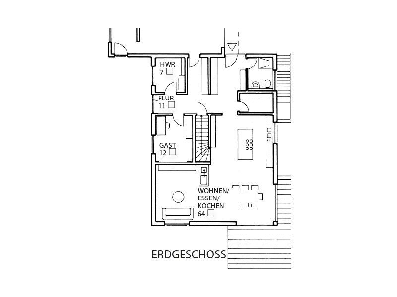 Haus-Empfingen - Eine nahaufnahme von text auf einem schwarzen hintergrund - Gebäudeplan