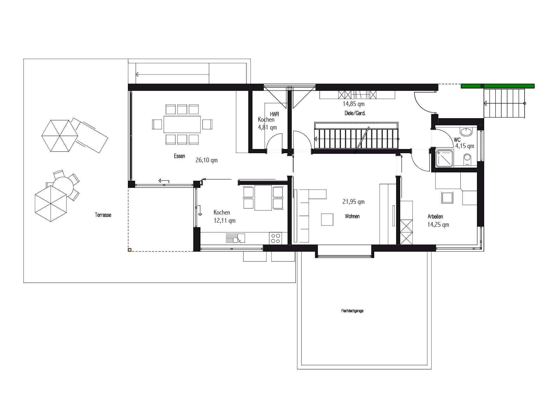 Kundenhaus in Unterfranken - Ein Screenshot eines Handys - Gebäudeplan