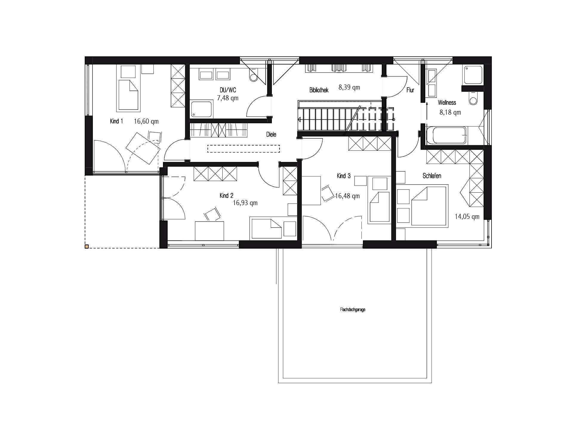 Kundenhaus in Unterfranken - Eine Nahaufnahme von einem Logo - Gebäudeplan