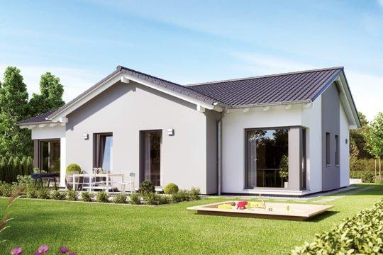 SOLUTION 100 V5 - Eine große Wiese vor einem Haus - Haus