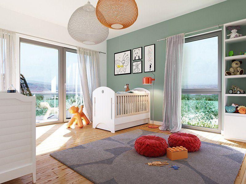 SUNSHINE 165 V2 - Ein Schlafzimmer mit einem großen Fenster - Haus