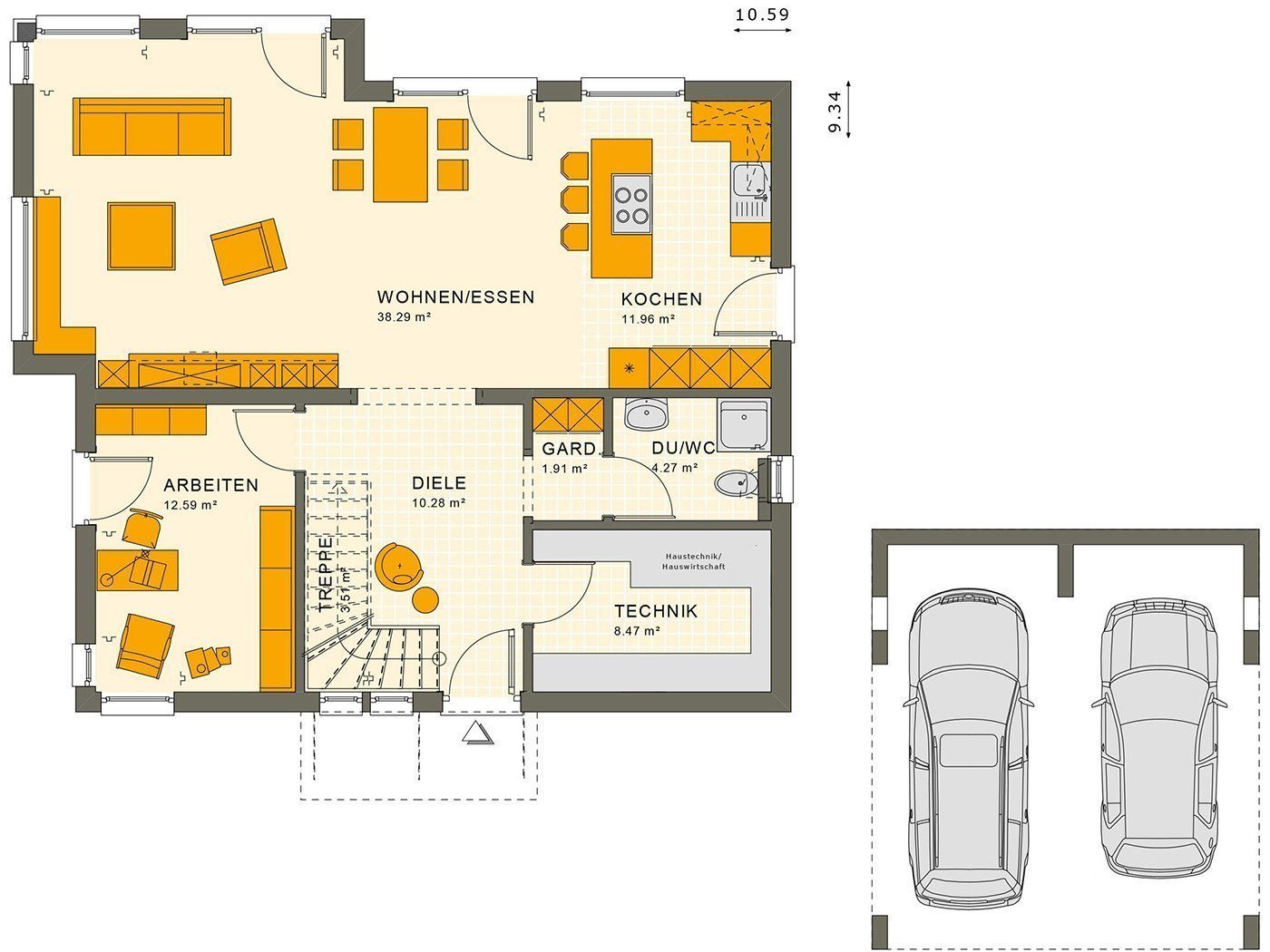 SUNSHINE 165 V2 - Eine Nahaufnahme von einer Karte - Gebäudeplan