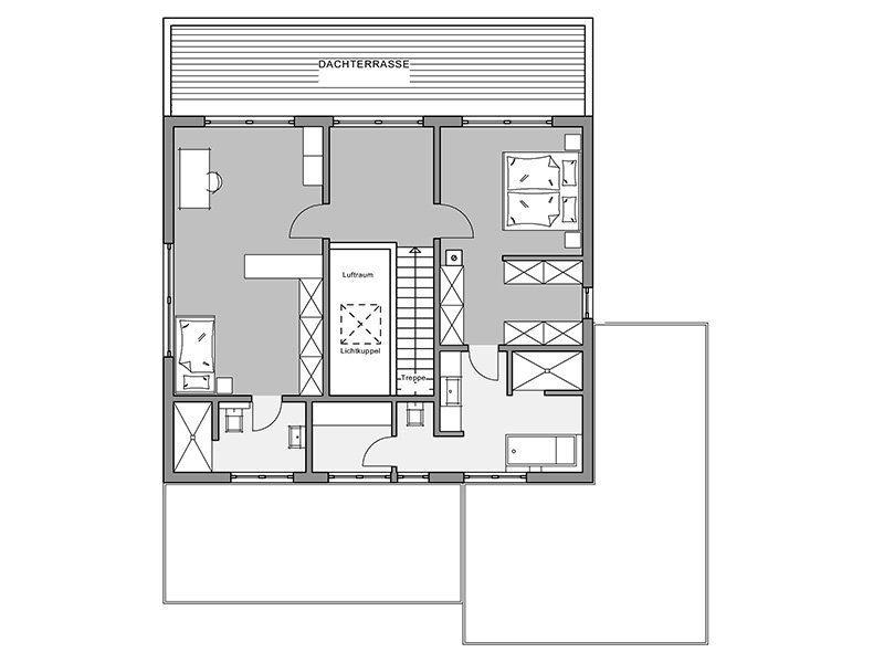 Bauhaus-Villa - Ein Screenshot eines Videospiels - Gebäudeplan