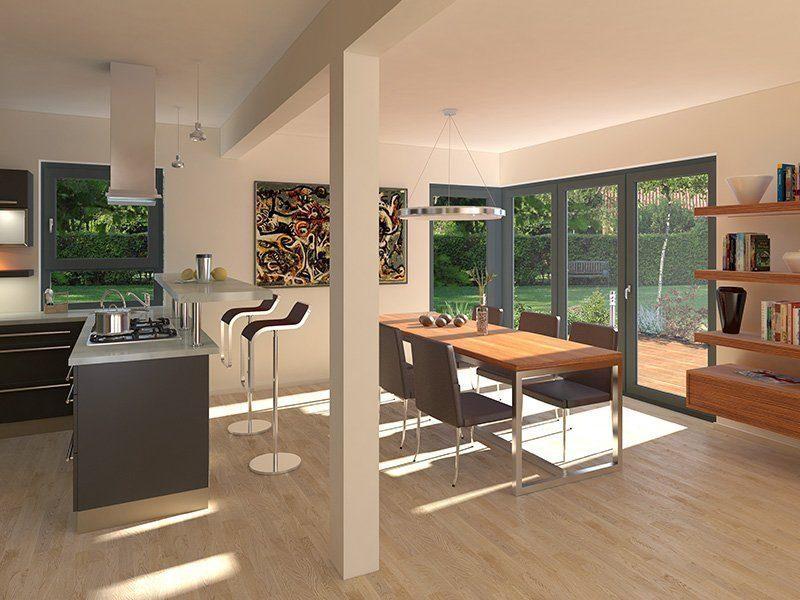 Stadtvilla Schönimquadrat - Ein Wohnzimmer mit Möbeln und einem großen Fenster - Interior Design Services