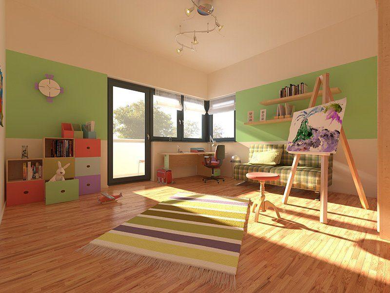 Stadtvilla Schönimquadrat - Ein Wohnzimmer mit Möbeln und Holzfußboden - Fußboden