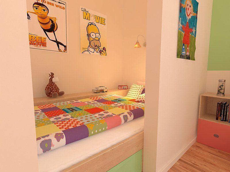 Stadtvilla Schönimquadrat - Ein Schlafzimmer mit einer roten Tür - Haus