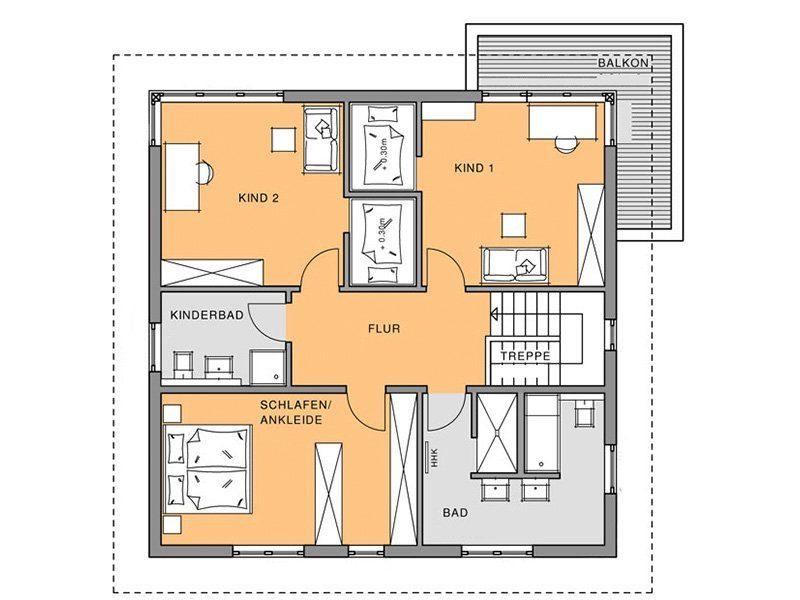 Stadtvilla Schönimquadrat - Eine Nahaufnahme von einer Karte - Gebäudeplan