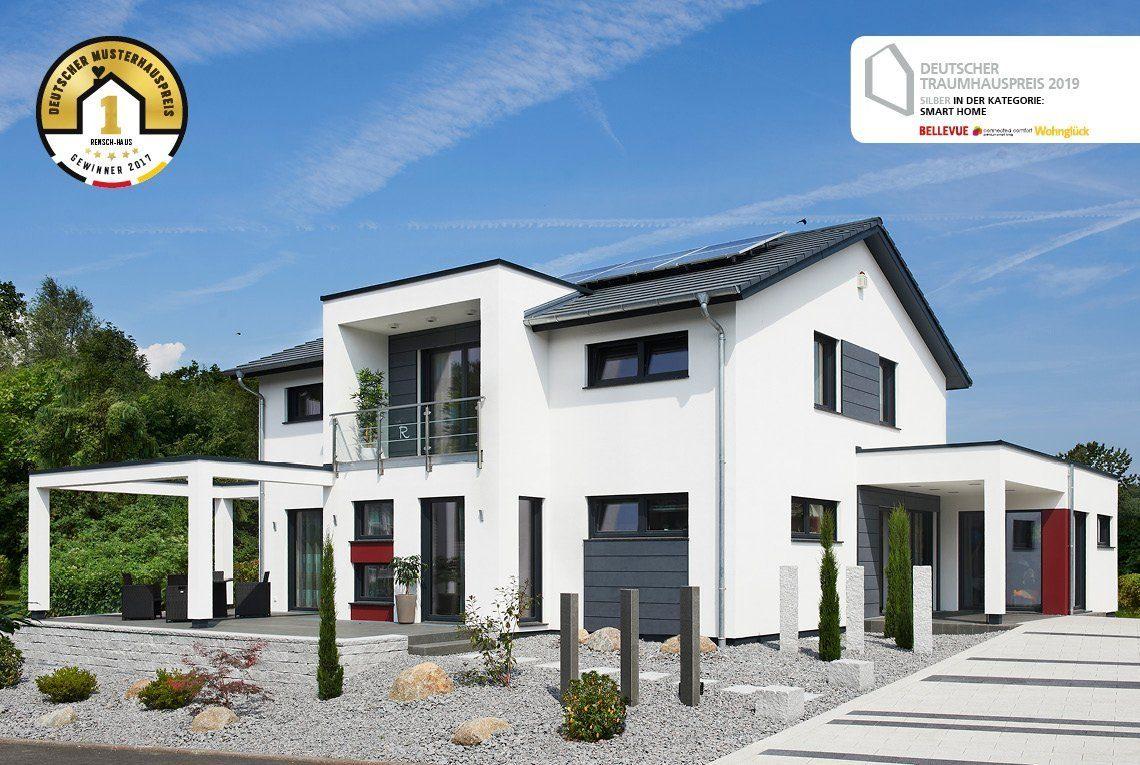 Musterhaus Innovation R - Ein schild vor einem haus - RENSCH-HAUS Musterhaus-Standort Bad Vilbel
