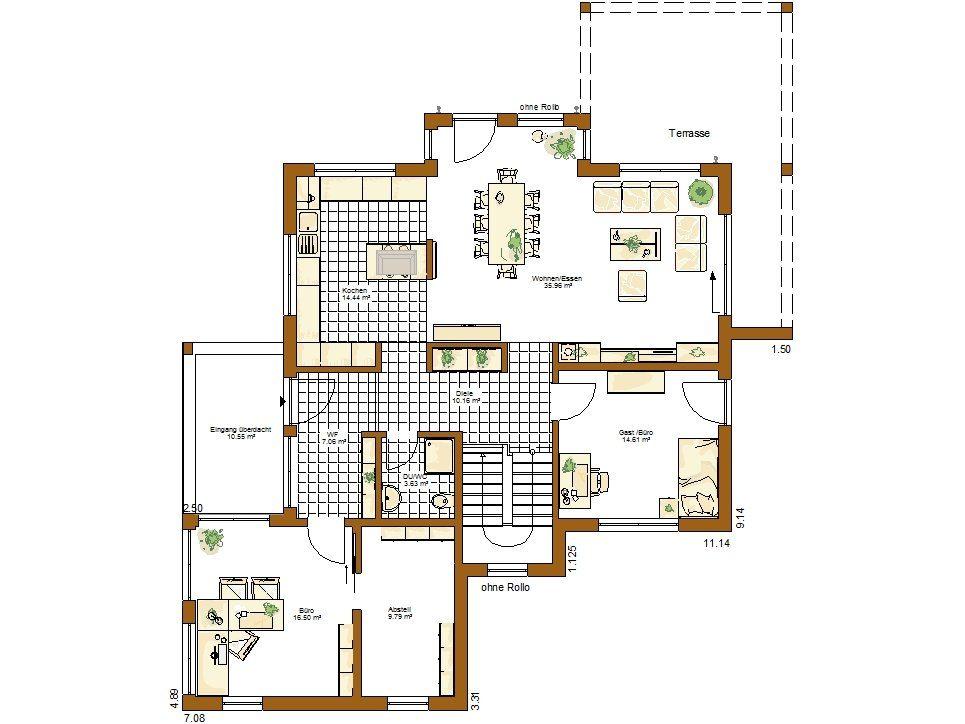 Musterhaus Innovation R - Eine Nahaufnahme von einer Karte - Gebäudeplan