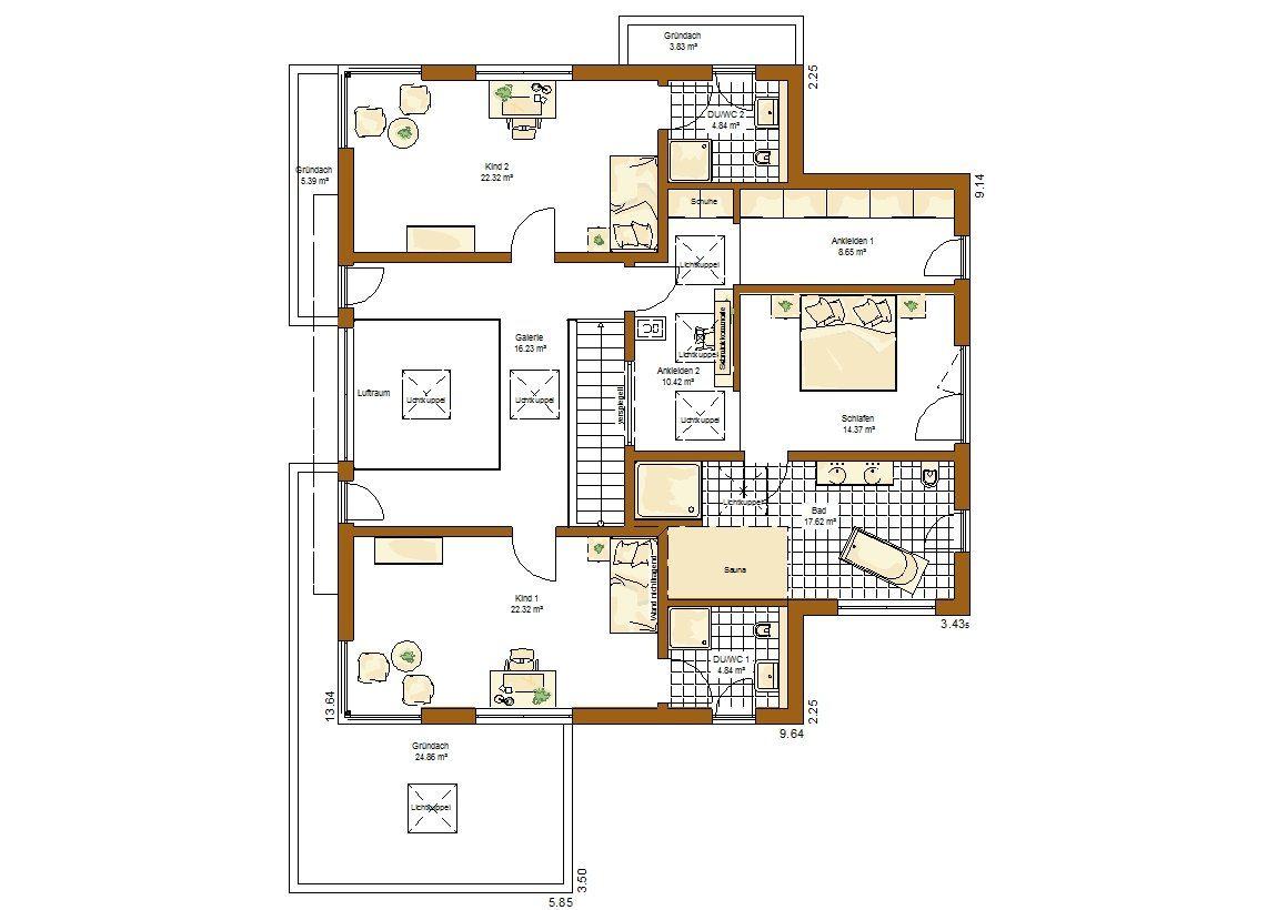 Musterhaus San Diego - Eine Nahaufnahme von einer Karte - Gebäudeplan