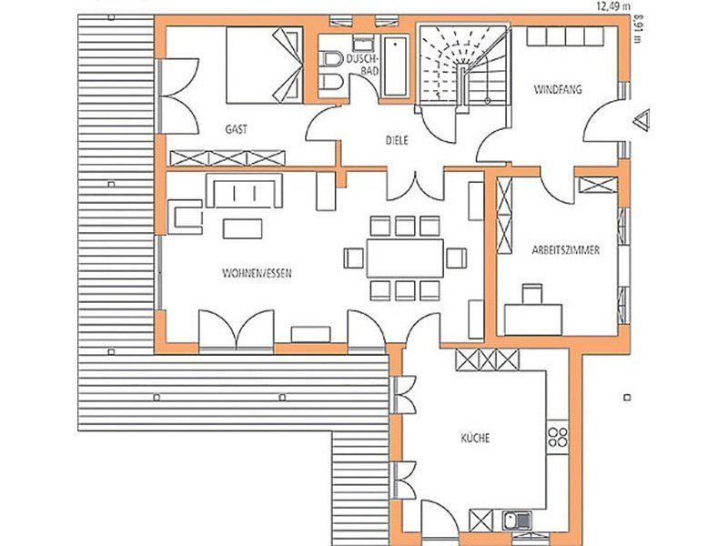 Vitalhaus Genf - Eine Nahaufnahme von einer Karte - Gebäudeplan