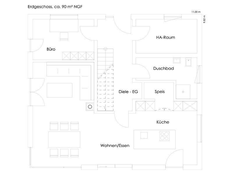 Vitalhaus Bruckmühl - Eine Nahaufnahme von einer Karte - Haus