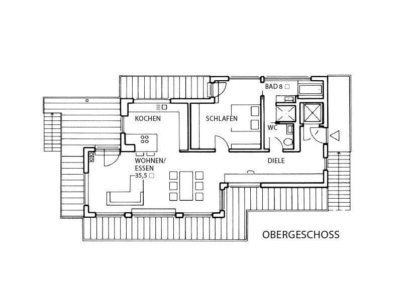 Vitalhaus Fabienne - Eine Leiterplatte - Gebäudeplan