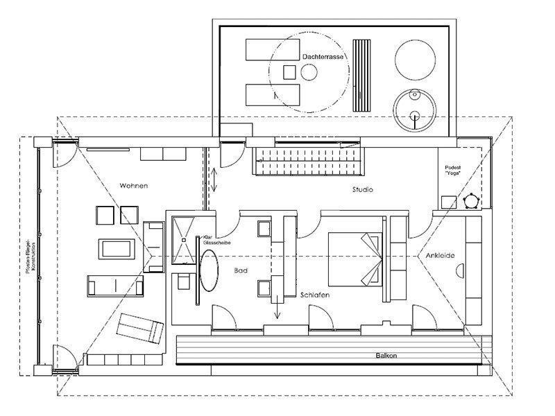 Musterhaus Ambienti+ - Eine Nahaufnahme von einer Karte - Gebäudeplan
