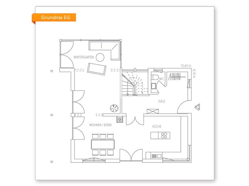 Vitalhaus Seehausen - Eine nahaufnahme von text auf einem weißen hintergrund - Regnauer Fertigbau GmbH & Co. KG