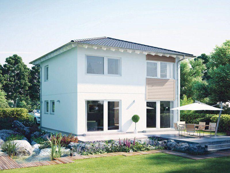Plan E 20-100.2 - Ein Haus mit Bäumen im Vorgarten - Haus