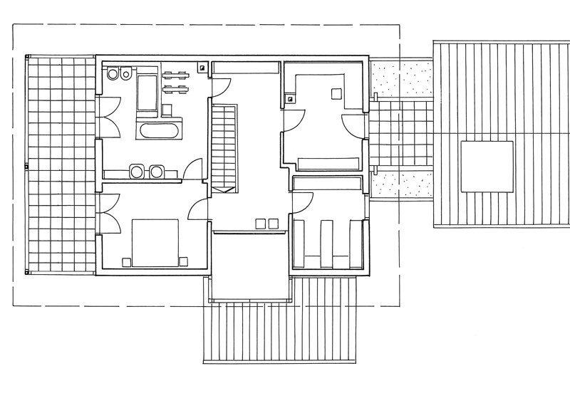 Grundriss eines Blockhauses