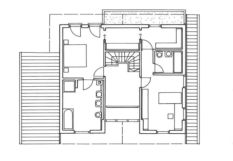 Blockhaus von Stommel, Grundriss OG